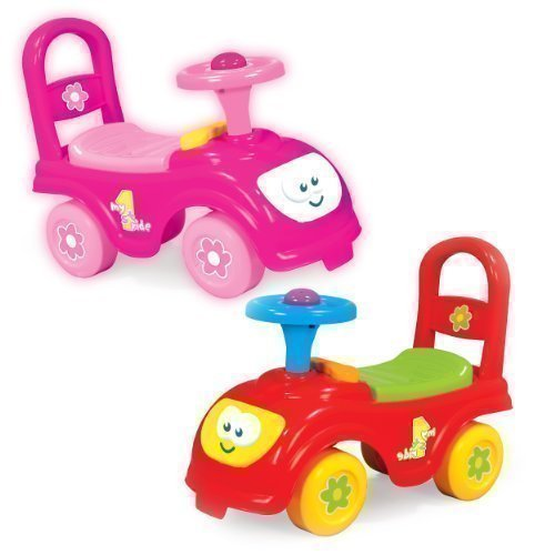 my first ride kids push along car pink amazoncouk toys games