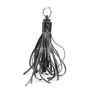 DURAGADGET Black Tassle Keyring Micro USB Data Sync Charger for the AIKER E-Cigarettes Starter kit Vape Pen Vaporiser