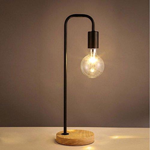 MOREY Scandinavian moderne minimalistische Art und Weise kreativ Studie kleinen Holzschreibtisch Computer Schreibtischlampe warmes Schlafzimmer Nachttischlampe ( farbe : Schwarz ) (20w Landschaft-lampen)