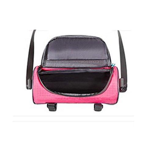 Lenkertasche, Richoose Fahrrad-Beutel-wasserdichte Touch Screen Radfahren vorne Reiten Telefon-Paket mit abnehmbarer Schultergurt Rosa
