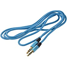 Cable estereo - TOOGOO(R)Cable estereo de audio de 3,5 mm auxiliar Aux de macho a macho para PC iPod MP3 coche (azul)