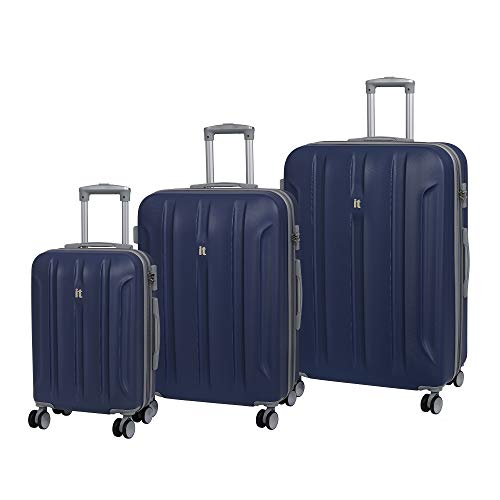 It luggage Set 3 Pezzi Proteus 8 Ruote Valigia Rigida Singola Espansione con Tsa Lock Valigia 80 Cm, Twilight Blue (Blu) - 16-2175-08GLO3N-S009