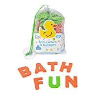 62pcs Bath Foam Letters Numbers 2 Size Floating Toddler Child Learning Non-Toxic