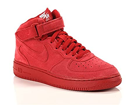 Nike Schuhe Air Force 1 Mid (GS) Unisex gym red-gym red-white (314195-603), 38,5, rot