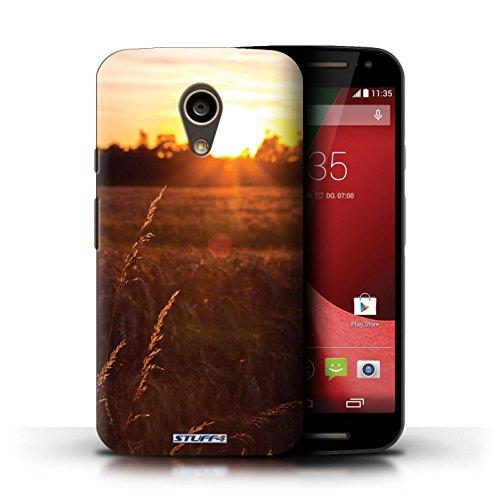 Kobalt® Imprimé Etui / Coque pour Motorola Moto G (2014) / arbres tropicaux conception / Série Coucher du Soleil Champ de maïs