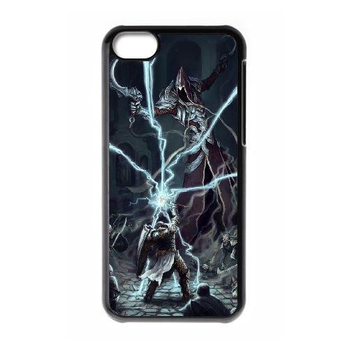 Diablo coque iPhone 5C Housse téléphone Noir de couverture de cas coque EBDXJKNBO09330
