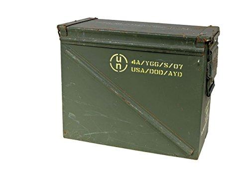 US Munitionskiste Getling oliv XL gebraucht 48 x 22 x 37 Werkzeugkiste Metallkiste