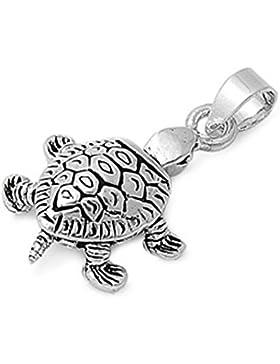 Sterlingsilber Anhänger - Schildkröte