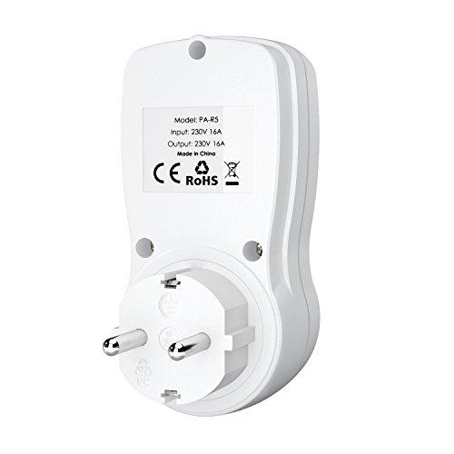 AUKEY Temporizador Digital Programable con Pantalla LCD 12/24 Horas 7 Días para Macbook  Smartphone  Tableta  Lámpara de Mesa  Aire Acondicionado  Calentador de Agua  Aparatos Electrodomésticos etc.
