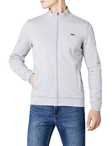 Lacoste Sport Herren SH7616 Reißverschluss Jacke, Grau (Argent Chine), Large (Herstellergröße: 5)