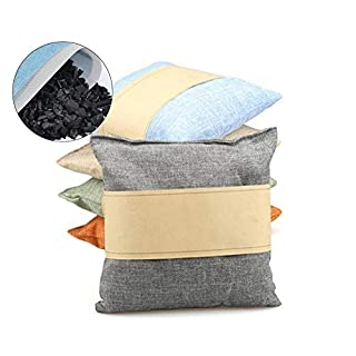 Bamboo Charcoal Bag,New Natural Air Purifying Bag,Linen Air Dehumidifier,Odour Eliminator Bag or Cars, Closets, Bathrooms and Pet Areas,500g/Bag