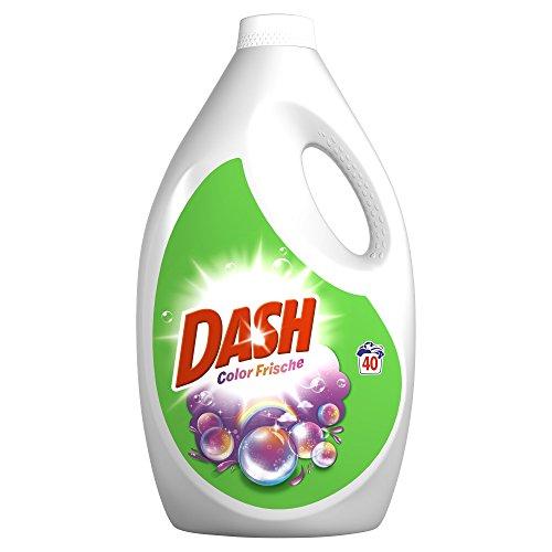Dash Colorwaschmittel Flüssig Color Frische, 2,6 l - 40 Waschladungen, 4er Pack (4 x 2,6 L)