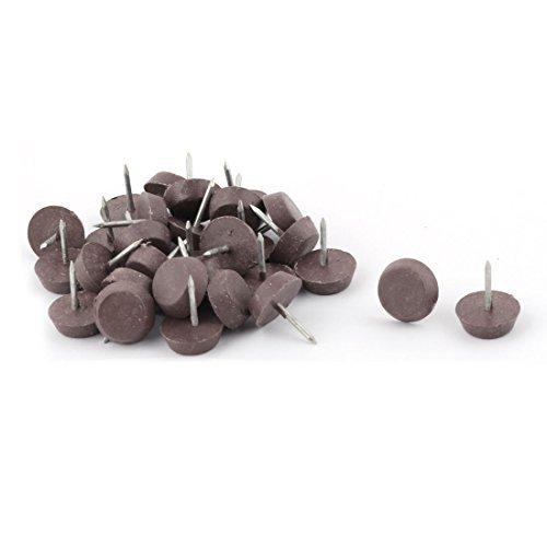 Dealmux Pointe en métal meubles de maison antidérapant à base ronde protecteur Chaise Table Pieds ongles Pad 15 mm Dia 30 pcs
