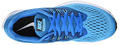 Nike Herren Air Zoom Winflo 4 Laufschuhe Blau (Blue Orbit/White-Black-Blue Fury)