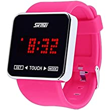 Wrist Watch,Ouneed ® Moda SKMEI pantalla táctil LED Digital de los muchachos muchachas del deporte relojes de pulsera (Rosa caliente)