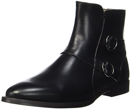 Marc O'Polo Damen Flat Heel Bootie 70714156001113 Stiefel, Schwarz (Black), 39 EU (Damen Flat Heel Stiefel)
