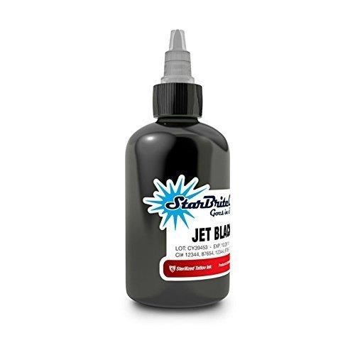 Starbrite Sterilized Tattoo Ink Jet Black Outliner 2oz by Star Brite