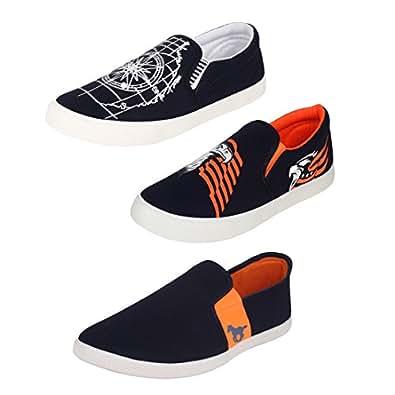 Super Men's  Multicolor Loafers - 6 UK/India (40 EU) (COMBO-461+472+383)
