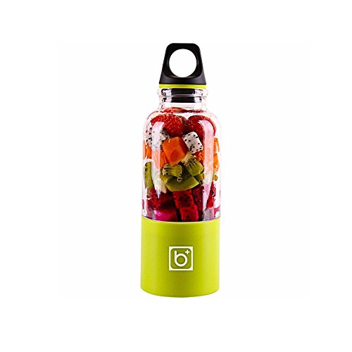Licuadora Vaso, AOLVO USB Portátil y Recargable para Jugo de Fruta, Verdura y Milkshake, con Cable USB Charge, 500ML