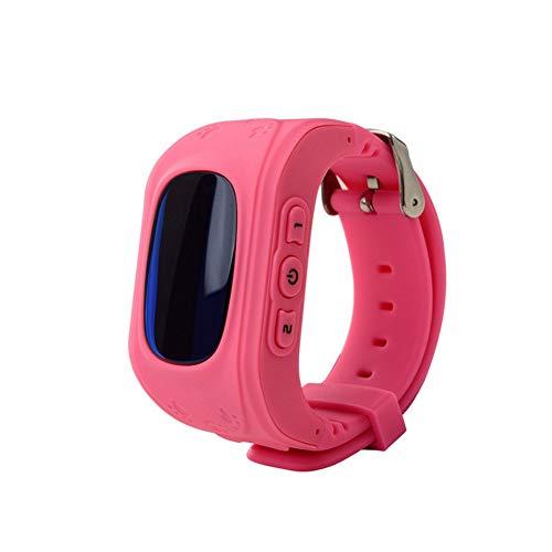 Damai-Shop Kinder Smart Watch, GPS, Telefon, Sprachnachric Rosa