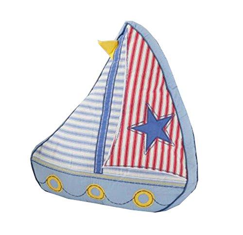 Karikatur-Segelboot-dekoratives Kissen spielt Baumwollsofa-Rückseiten-Kissen-Wurfs-Kissen