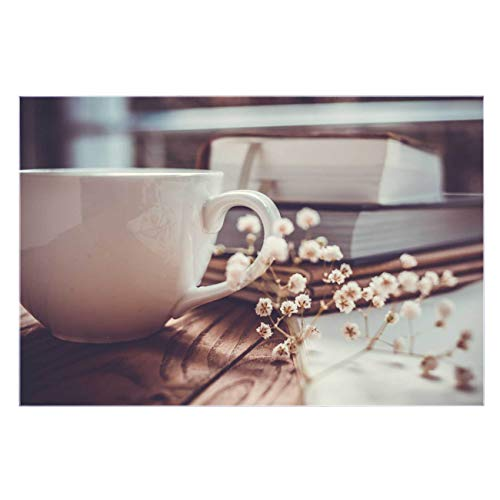 banjado Glas Küchenrückwand selbstklebend in Verschiedenen Größen   Spritzschutz mit Motiv Lesestunde   Memoboard mit 4 Magneten und Stift   Glasbild beschreibbar ohne Bohren   Komplettset 60x90cm