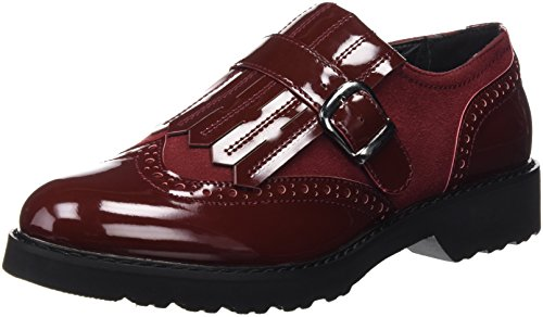 XTI Zapato Sra. C. Combinado Burdeos - Moccassins femme Rouge (BURDEOS)