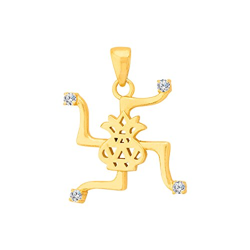 Voylla Divine Swastika with Kalash Pendant Inspired by Spiritual Saga