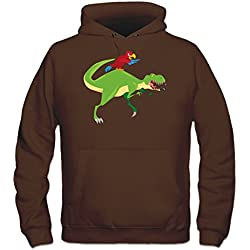 Sudadera con capucha Parrot On T-Rex by Shirtcity