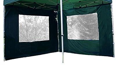 Nexos 2 Stück Seitenteile Seitenwände Ersatzwände mit Fenster für PROFI Falt-Pavillon Festzelt – hochwertig – 295 x 215 cm/PE 180 g/m² – grün von Nexos Trading auf Gartenmöbel von Du und Dein Garten