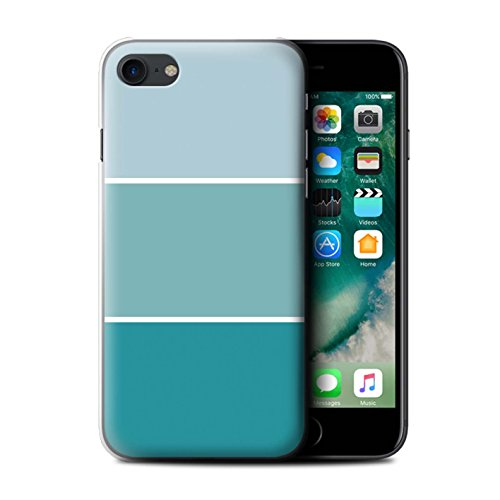 Stuff4 Hülle / Case für Apple iPhone 7 / Braun Muster / Pastell Farbton Kollektion Türkis