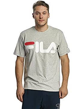 Camisa Fila Logotipo Clásico Gris Claro