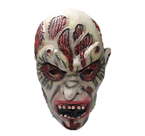 Uleade Halloween Maske Scary Kostüm Ghost Cosplay Party Faule Gummi Maske