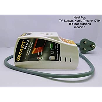 Smart Plug High Low Voltage Protector @ 6Amp with Cord with Surge Protection Upto 4000 Volts.