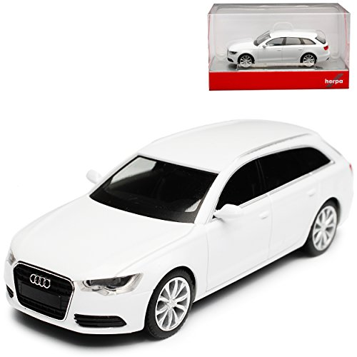bi Gletscher Weiss Metallic 2011-2018 H0 1/87 Herpa Modell Auto mit individiuellem Wunschkennzeichen (Audi Modell Auto)