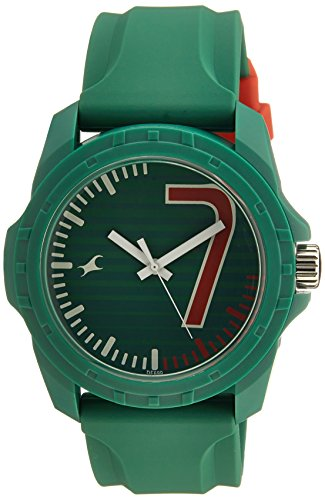 Fastrack Tees Analog Green Dial Unisex Watch - 38018PP05 image