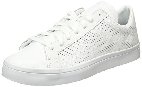 adidas Court Vantage - Scarpe da Ginnastica Basse Uomo, Bianco (Ftwr White/Ftwr White/Core Black), 42 2/3 EU