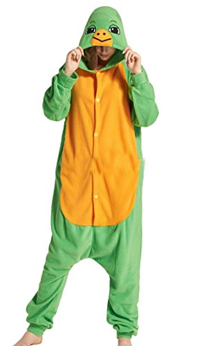 Unisex Pyjama Cosplay Tier Onesie Body Nachtwäsche Kleid overall Animal Sleepwear Erwachsene Jumpsuits Tieroutfit Tierkostüme ,Schildkröte S- Höhe 150-158cm (Erwachsene Schildkröten Kostüme)