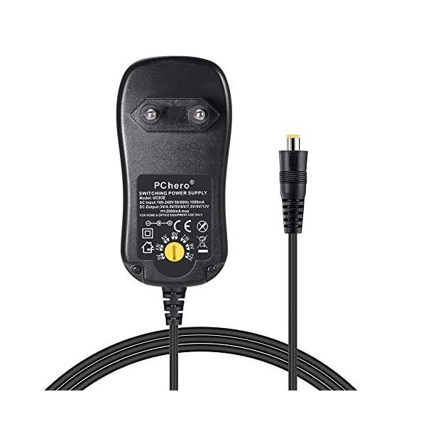 PChero-24W-Alimentatore-Universale-con-7-Spine-CC-per-3V-12V-Elettronica-Domestica-e-Dispositivi-USB-2000mA-Max