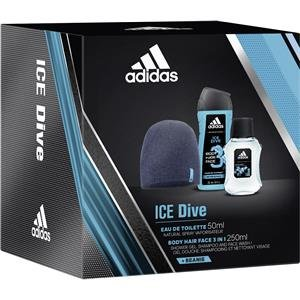 adidas Ice Dive Eau de Toilette + Shower Gel + Wollmütze, 300 ml