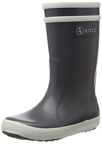 Aigle Unisex-Kinder Lolly Pop Gummistiefel Grau (Charcoal) 29 EU