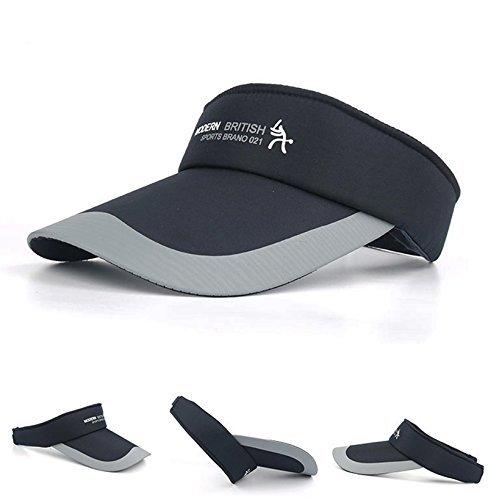 HYSENM HYSENM Visor Baumwolle Einheitsgröße Unisex Cap mit Klettverschluss Einstellbar Anti-UV für Reisen Radsport Tinnesspielen Kappe, Dunkelblau