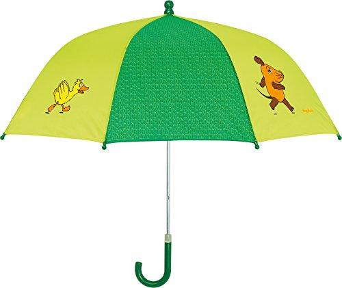 Playshoes Unisex Regenschirm Maus, Elefant und Ente, Die Sendung mit der Maus, Gr. One size, Grün (original 900) Unisex-ente