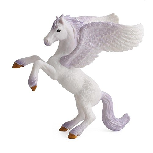 Aolvo Pegasus, handbemalt, Pegasus Fliegendes Pferd Pegasus Figur, BPA frei, Spielzeug für Baby, Kind, Sammler-Regal, violett