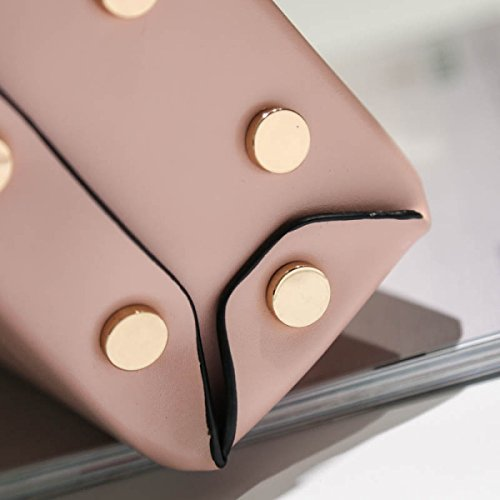 FZHLY Retrò Spalla Moda Messenger Bag Semplice Mini-lock Borsa Piccola Piazza,Pink Pink