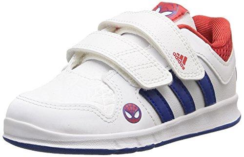 adidas LK Spider-Man CF I - Zapatillas Unisex, Color Blanco/Azul / Rojo, Talla 20