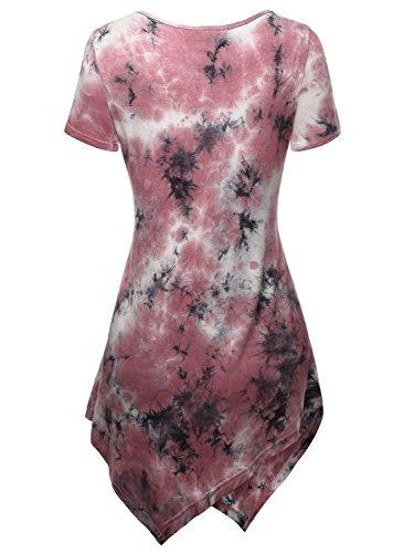 DJT - Maglietta Tie dye manica corta collo rotondo - Donna Rosa