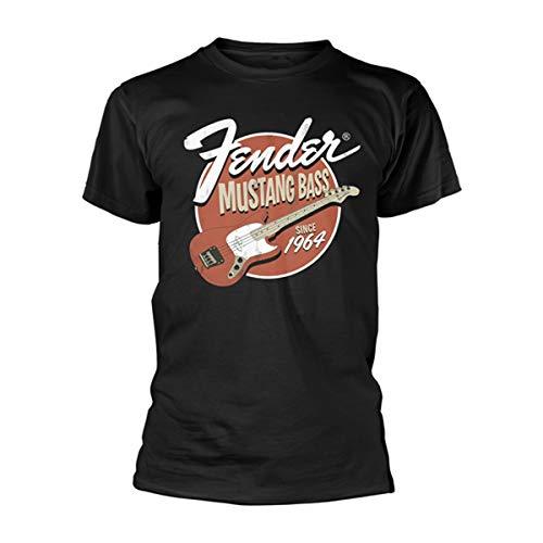 Fender Mustang Electric Bass Guitar offiziell Männer T-Shirt Herren (X-Large) (Bass Jaguar Guitar Fender)