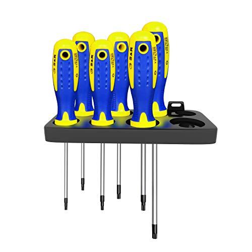 Tournevis Torx / Étoiles / Tx Magnétiques Professionnels de Précision, set / kit de 6 pcs, T10, T15, T20, T25, T27, T30