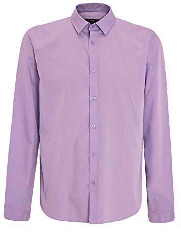 oodji Ultra Herren Tailliertes Hemd Basic Violett (8000N)